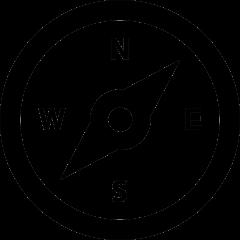Obraz kompasu pokazujący cztery strony świata